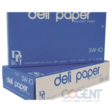 Deli Sheet 10x10.75 Interf Wht Dry Wax Std Wt 12/500/cs SW-10