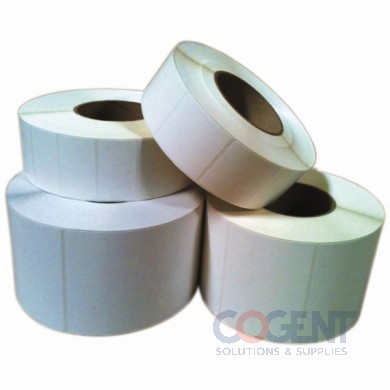 "Label Thermal Transfer 4""x1.5"" White Perf  3.5m/rl 4rl/cs"