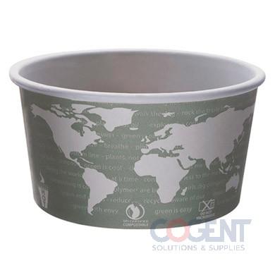 Soup Cup Paper 12oz World Art Compostable  500/cs