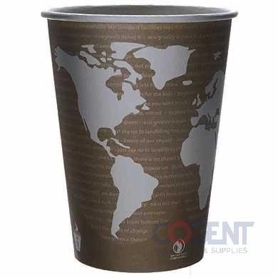Soup Cup Paper 32oz World Art Compostable  500/cs