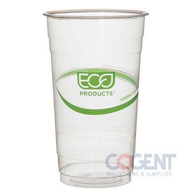 Cup Cold 24oz Clear GreenStripe PLA  1m/cs