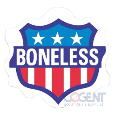 "Label Boneless 1.56""x1.5"" Red White Blue 1m/rl"