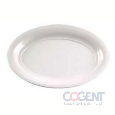 "Oval Platter 14""x21"" White 20/cs"
