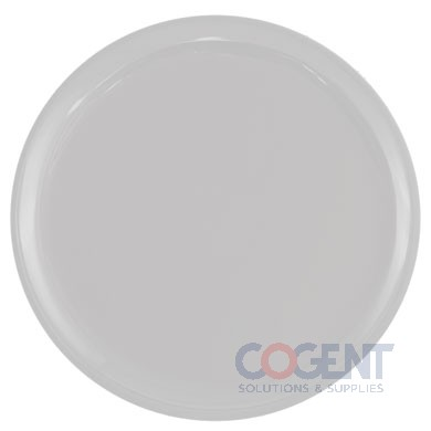 "Round Tray 12"" White Plastic 25/cs"