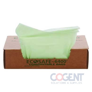 Can Liner 42x48 .85mil  Green Compost EcoSafe 48gal 40/cs