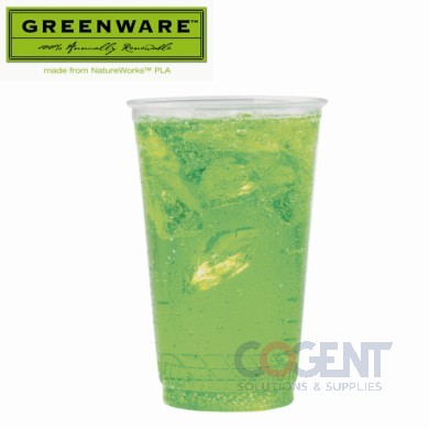 Cold Cup 16/18oz Clear Greenware PLA GC16S 1m/cs    FK