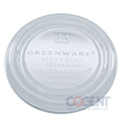 Lid for 2oz Portion Cup PLA Greenware 2m/cs    GXL250PC