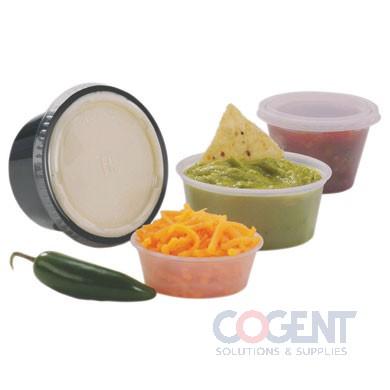 Cup Portion Plastic 1oz Squat Transluscent 2500/cs  PC100S
