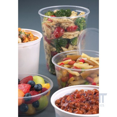 Deli Container 16oz Clear Microwave Plastic 500/cs PK16