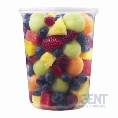 Deli Container 32oz Clear Microwave Plastic 500/cs PK32