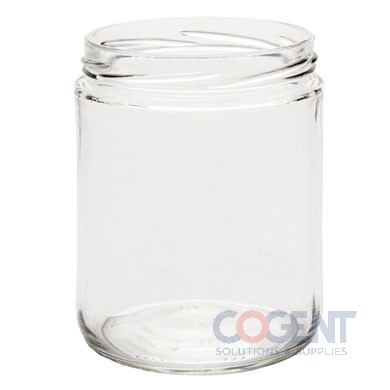 Glass Jar 16oz Clear Straight Sided 82 Lug 12/cs A16-11W
