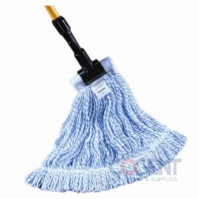 Waxer Finish Mop Medium Blue/White GST 12/CS