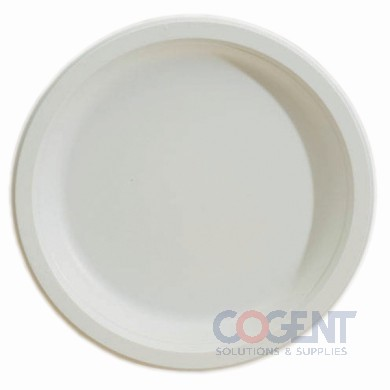 "Plate 8.75"" Bagasse White 500/cs"