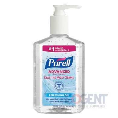 Hand Sanit Pump Bottle 8oz Purell Advance 12/cs 9652-12 GJ