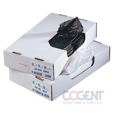 Can Liner 24x23 .7mil Black LLD 7-10gal 1m/cs D4823HKX01    HER