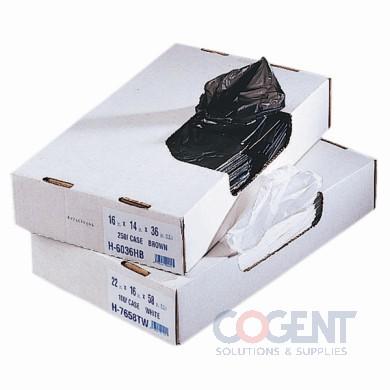 Can Liner 30x36 .8mil Black LLD 20-30gal 250/cs H6036EKX02  HER