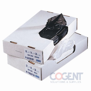 Himolene Can Liner 43x48 22mic Black HD 150/cs Z8648WKR01  HER