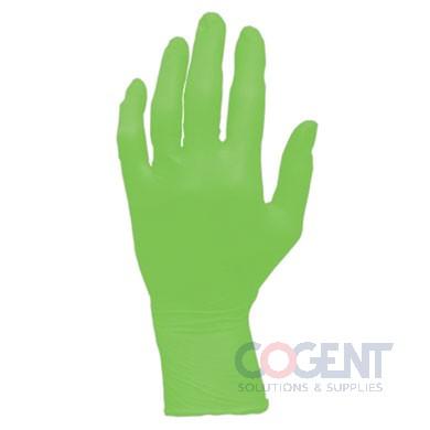Glove Nitrile Large PF 6mil Neon Green 10/100/cs GL-NG107FL