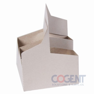 4 Cell Drink Carrier Chipboard w/Handle Kraft 200/cs 14701822