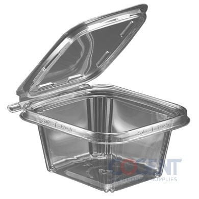 Safe-T-Fresh 16oz Clear Tamper Resistant Square 240/cs  TS16