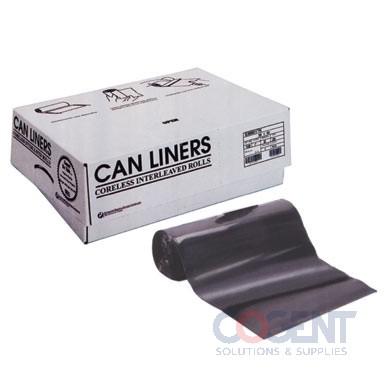Can Liner 40x46 2mil Blk LLD 40-45gal 100/cs ECI404620K  INT