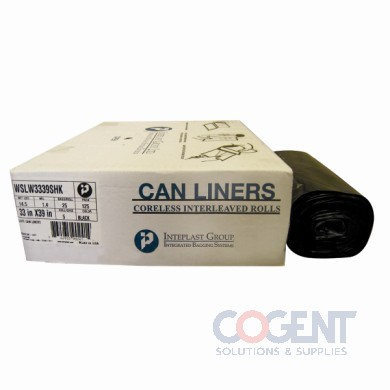 Can Liner 24x33 .35mil Natural LLDPE 12-16gal 50/rl 24/cs  INT