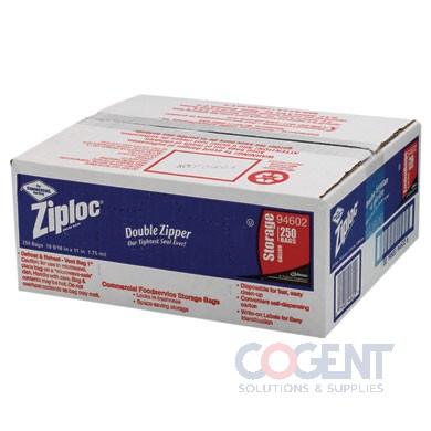 Poly Bag Ziploc 10.5x11 1.75mil 1gal Writing Block 250/cs 94602