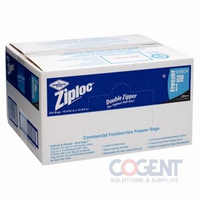 Freezer Bag 1gal Dbl Zipper 2.7mil w/ Writing Block 250/cs