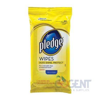 Pledge Wood Cleaner Wipes 7x10 Lemon  24/pk  12/cs  CB728072
