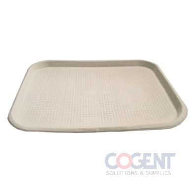 Savaday Molded Fiber Food Tray 1-Compartment 14x18 Whte 100/cs