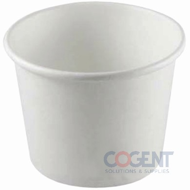 Food Container 24oz White Paper Double Poly 600/cs C-KDP24W