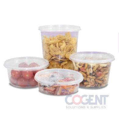 Deli Container 32oz Round Clear PP 4.6x5.5x3.38 500/cs FPDC32PP