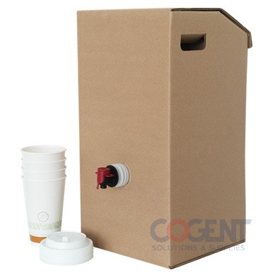 Catering Beverage on the Move 3 Gallon Kraft 7150      10/cs