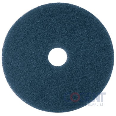 "Floor Cleaning Pad 14"" Blue 5/cs Low Speed Hi Prod 3M 5300"