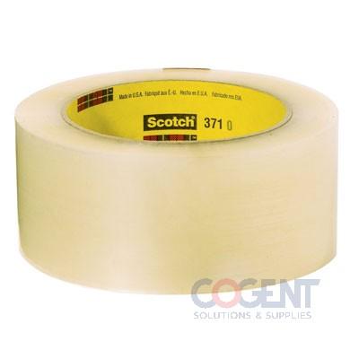 """Box Tape 3""""x1000yd Clr 1.9mil Hot Melt 4rl/cs 371          3M"""