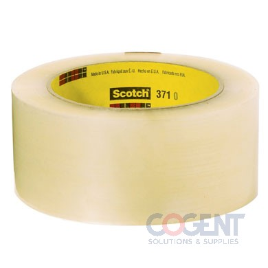 "Box Tape 2""x1000yds 1.9mil Clr Hot Melt 6rl/cs 3M 371 48cs/plt"