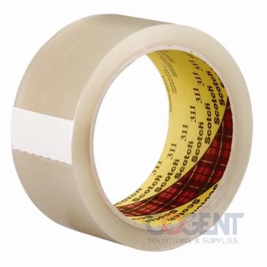 "Box Tape 2""x1000yds 2.05mil Clr ACR 6rl/cs 48cs/plt3M 311+"