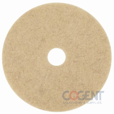 "Burnishing Pad 19"" Nat Tan 1500-3500 RPM 5/cs           3M"