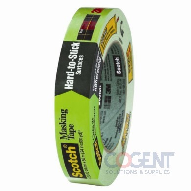 Masking Tape Hard to Stick Surf 24mmx55m Green 36/cs