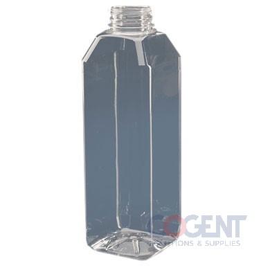 Bottle 8oz Square PET Clear 38mm 228/bg 81875WH38DBJ    MVP