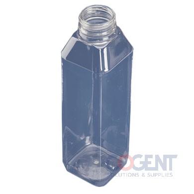 Bottle 16oz Square PET Clear 38mm 160/bg PP1623WHDBJ MVP