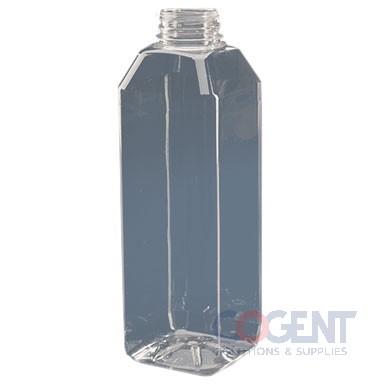 Bottle 64oz Square PET Clear 38mm 45/bg PP6458PGRIPDBJ   MVP