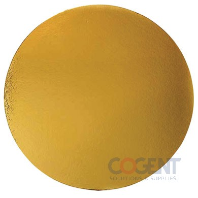"7-7/8"" Gold Round Luna Cake Board 3/64"" Thickness 200/cs NC"
