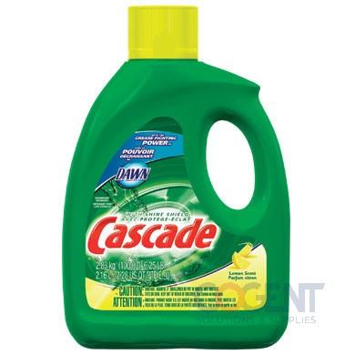 Cascade Dishwasher Gel with Dawn Lemon 120oz  4/cs  28193