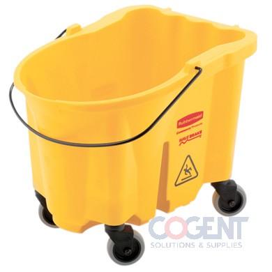 WaveBrake 2.0 Mop Bucket 26 qt. Yellow  RCPFG747000YEL