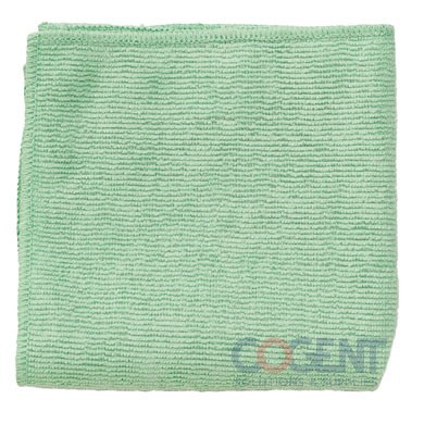 Microfiber Cleaning Cloths Green 12x12 24/Pk
