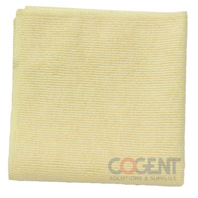 "Microfiber Cleaning Cloths 12""x12"" Yellow   24/Pack"