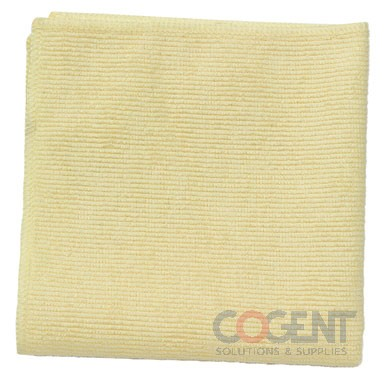 Yellow Microfiber Clean Cloth 16x16  24/pk  1820584