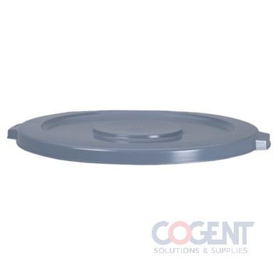 Brute Lid 55gal Gray Round Use w/2655 Container  2654 GRA