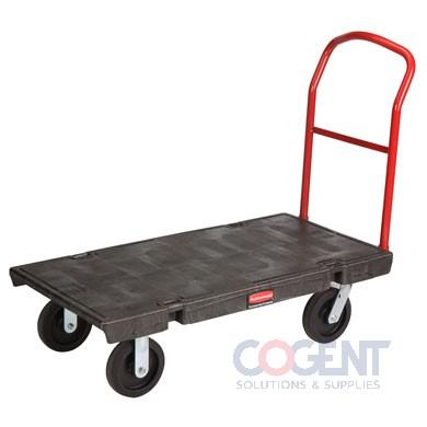 H/D Platform Truck Cart 24x48 Blk 2,000 lb capacity